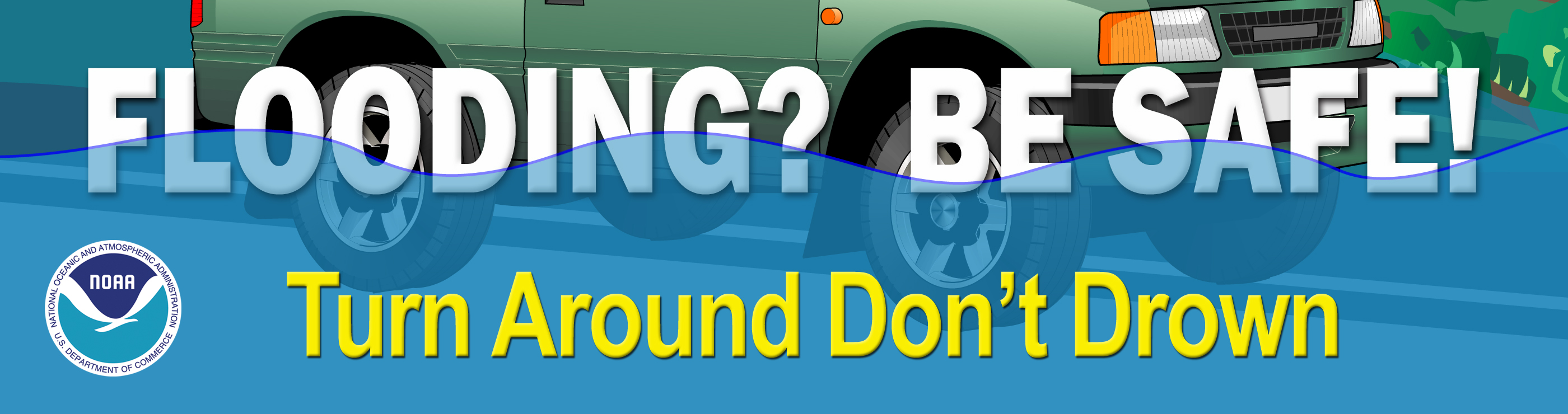 Turn Around Don't Drown flood saftey image