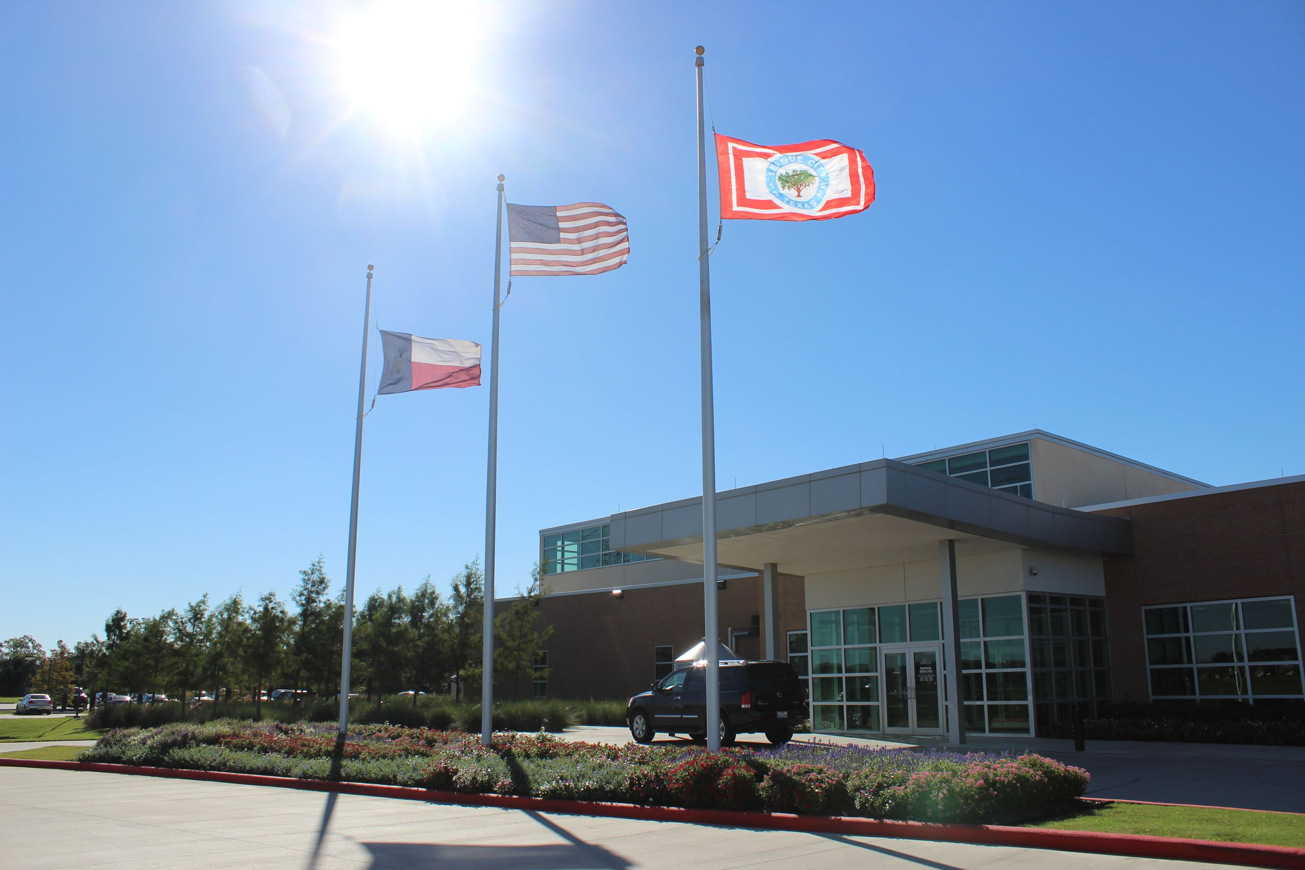 Front entrance of Hometown Heroes Park