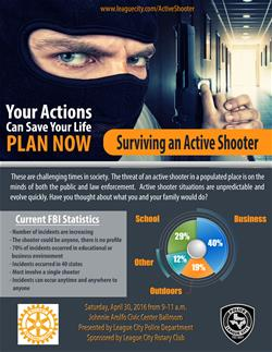 Active shooter training flyer