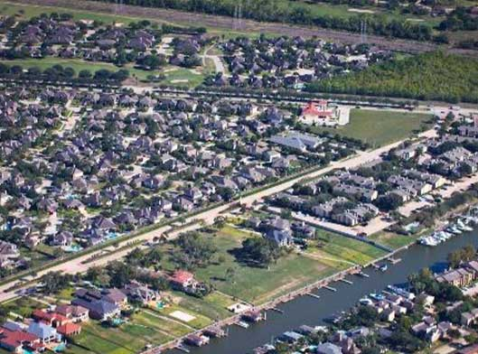 Aerial view of League City