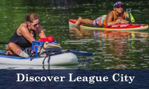 People kayaking-Discover League City