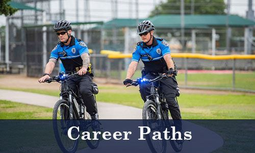 Two police officers bicycling-Career Paths