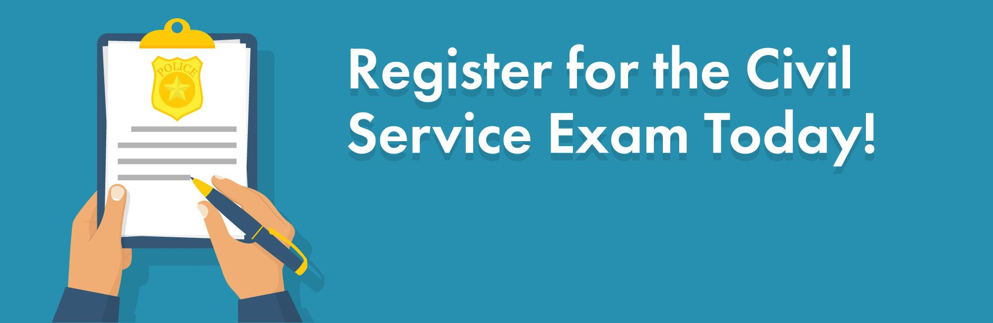 Register for the Civil Service Exam Today!